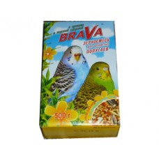Brava 500,0 д/волнистых попугаев орех+мор.капуста 1/14 (00257597   )