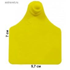Бирка Female 09 мама (69,5x57,0) желтая с номером