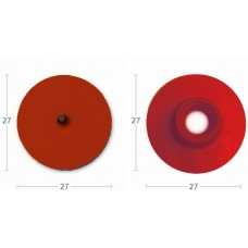 Бирка круглая папа с пластик.носиком красная без надписи (27х27) (00360052   )