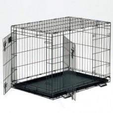 Клетка д/соб 106*71*76cм черная 2 двери Медвест 1542DD (00361312   )