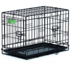 Клетка д/соб 76*48*53 см  черная 2 двери Медвест 1530 DD
