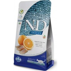 FARMINA N&D 1,5 кг д/кошек Аdult сельдь/апельсин 6704 1/8 (00363263   )