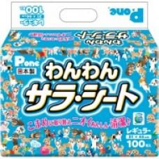 Пеленки 31*44 cм 8шт Премиум Пет Pone 1 слойные  цв.голубой RWR-656  (Япония)