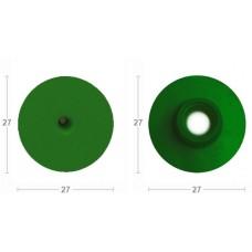 Бирка круглая папа с пластик.носиком.зеленая без надписи (27х27) (00363741   )