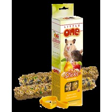 Little One палочки д/хомяков, крыс, мышей и песчанок с воздушным рисом и орехами 2х55г