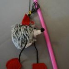 Дразнилка Ежик на веревке, пищалка, пластик (00364609   )