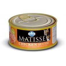 FARMINA Матисс 85гр конс. д/взрослых кошек мусс курица 2703 1/12 (00364791   )