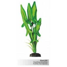 Растение 30см шелк Барбус Plant 035-АНУБИС ХАСТИФОЛИЯ зелёная в БЛИСТЕРЕ,---