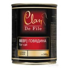 CLAN De File консервы для кошек 340 г Говядина (уп-12шт) №80- (00372555   )