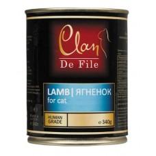 CLAN De File консервы для кошек 340 г Ягненок (уп-12шт) №81-
