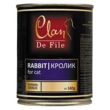 CLAN De File консервы для кошек 340 г Кролик (уп-12шт) №84- (00372559   )