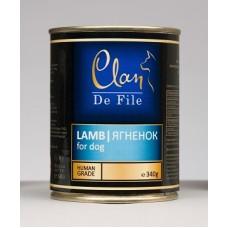 CLAN De File консервы для собак 340 г Ягненок (уп-12шт) №61 (00372566   )