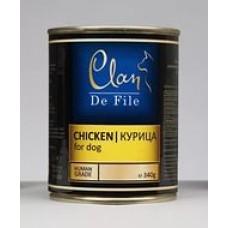 CLAN De File консервы для собак 340 г Курица (уп-12шт)