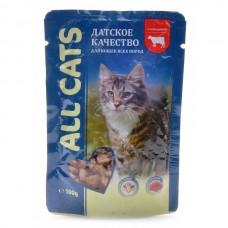 ALL CATS 85,0 д/кош с говядиной в соусе пауч 1/600