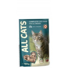 ALL CATS 85,0 д/кош с курицей в соусе пауч 1/600