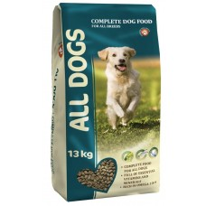 ALL DOGS 13кг д/соб взрослых пм 1/4 (00372756   )