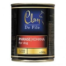 CLAN De File консервы для собак 340 г Конина (уп-12шт) (00372988   )