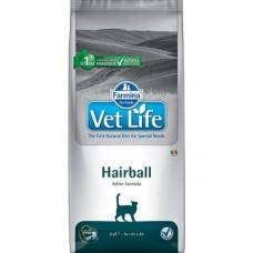 FARMINA Vet Life Cat 2кг Hairball с кур. д/взр.кошек вывед.шерст.комочков 2783 1/4 (00373157   )