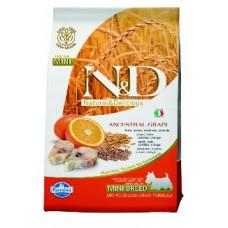 FARMINA N&DНЗ 2,5 кг д/собак мелких пород Аdult MINI треска/апельсин 6599 1/4-