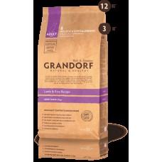 GRANDORF DOG 12кг MAXI ягнёнок с рисом для собак крупных пород  6124* 1/4*** (00374996   )