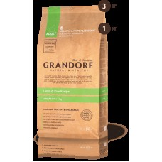 GRANDORF DOG 3кг MINI ягнёнок с рисом для собак мини пород 1037*  1/9