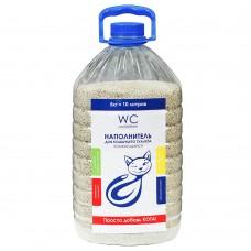 WC Cat/Kitten 10л/5кг комкующийся наполнитель (бутылка)1/90 (00375616   )