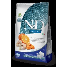 FARMINA N&D 2,5 кг д/собак Аdult Medium/Maxi рыба/апельсин 6483 1/4