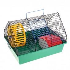 Клетка д/грызунов 38,5*27,5*25,5см Вака (с лесенкой и домиком) 2 этажа