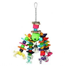 Игрушка для птиц деревянная, разноцветная, 35 см 58956,