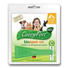 Green Fort neo БиоКапли д/кошек,кроликов и собак до 10кг 1/60