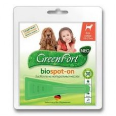 Green Fort neo БиоКапли д/собак 10-25кг  1/60
