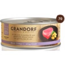 GRANDORF CAT 70,0 конс д/кошек Филе тунца с мидиями 2581 1/6 (00376792   )