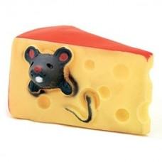 Мышка в сыре игрушка винил 10 см