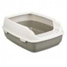 Туалет д/кошек 35 x 20 x 48см с бортиком Delio  темно-серый/кремовый ТРИКСИ (00377498   )