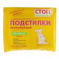 Пеленки 40*60 см 8шт Стоп-проблема гелевые1/24 (00378390   )