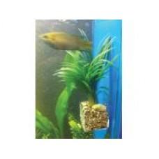 Горшочек в аквариум для растений 40*40*100 мм/ на присосках (прозр.пластик 1,5мм) Д-00084