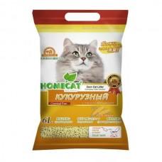 HOMECAT 6л/2,8кг  наполнитель комкующийся кукурузный Эколайн 1/24 (00378757   )