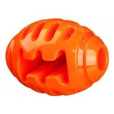 Мяч регби игрушка Soft & Strong, TPR, 8 см, оранжевыйТРИКСИ