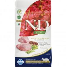 FARMINA N&D Cat Quinoa 1,5кг Weight Management Lamb  с ягненком, контроль веса 5806 1/8* (00379064   )