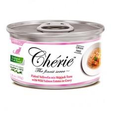 PETTRIC Cherie 80гр д/кошек Тунец с лососем в подливе 0326 1/24 (00379147   )
