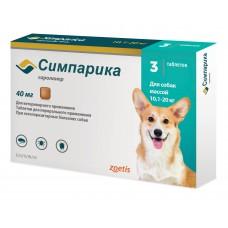 Симпарика, табл 40 мг (уп. 3 табл.) от 10-20 кг Зоетис до
