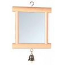Зеркало д/птиц деревянное с колокольчиком 9*10см трикси