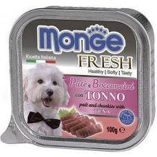 MONGE 100гр Dog Fresh консервы для собак тунец 1/16