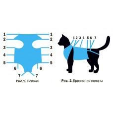Попона д/кошек малая Тошка и Ко ЭКО 1/40   голубая -4777- Спектр