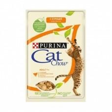 CAT CHOW 85.0 пауч ADULT Курица 1/24 (00379756   )