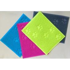 Коврик под миску 30*40см   разноцвет,  резина  (00380234   )