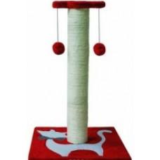 Когтеточка 38х38х58см сизалевая с двумя игрушками  Уют 1/20* (00380423   )