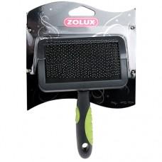 Пуходерка пластиковая с гибкими щетинками средняя M Золюкс 470704