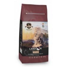 LANDOR 0,4кг д/кошек живущих в помещении утка с рисом 9608 1/20