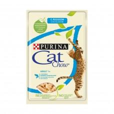 CAT CHOW 85.0 пауч ADULT Лосось зел.фас. 1/24 (00380923   )